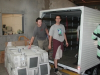 Culum and Hamish Packing Monitors